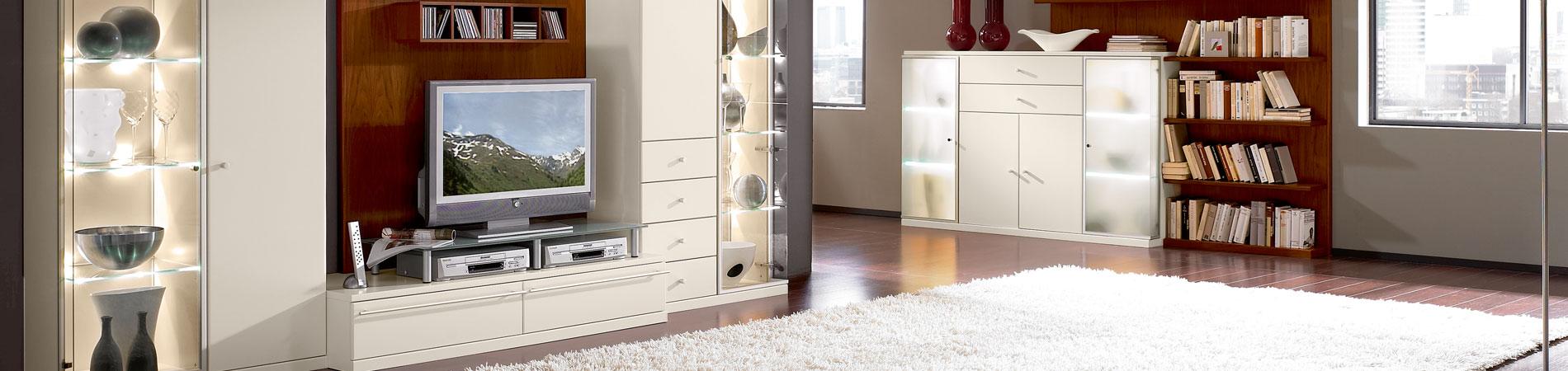 Elegant, praktisch, ein Blickfang: die schöne Wohnwand - in großer Auswahl bei Prima SB-Möbel in Lobenstein