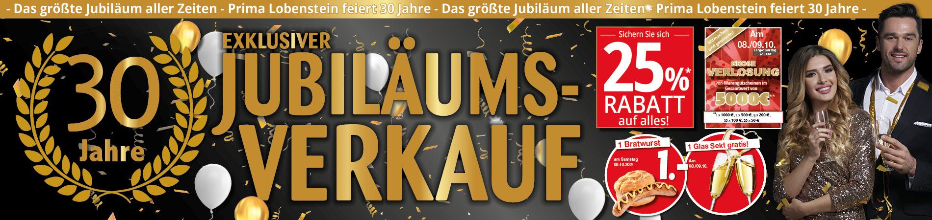 Exklusiver Jubiläums-Verkauf bei prima-Möbel Lobenstein: 25% Rabatt auf Alles!